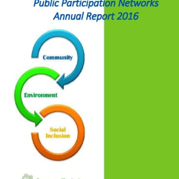Public Participation Networks – Annual Report 2016