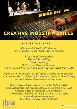Creative Industry Skills Training at The Glens Centre