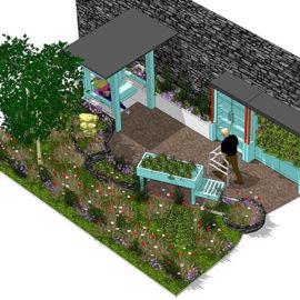 CGI of Bloom Dementia Friendly Garden