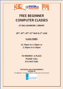 Poster for Digitise the Nation Course in Ballinamore