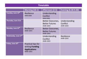 Workshops Timetable NUIG