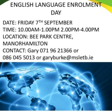 English Language Classes – Sign Up Sessions