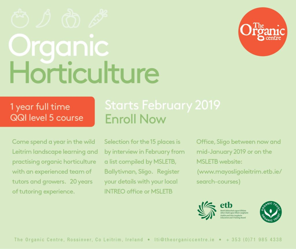Organic Horticulture Training Poster