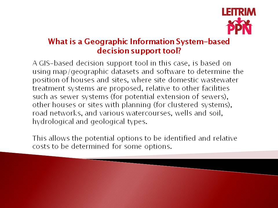 Explaining a GIS-based decision support tool. Research