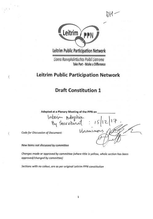 Cover of Signed Constitution