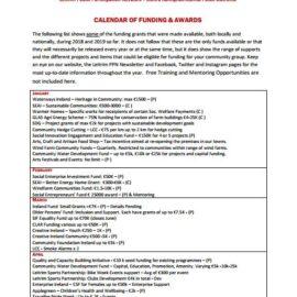 Calendar of Funding Opportunities