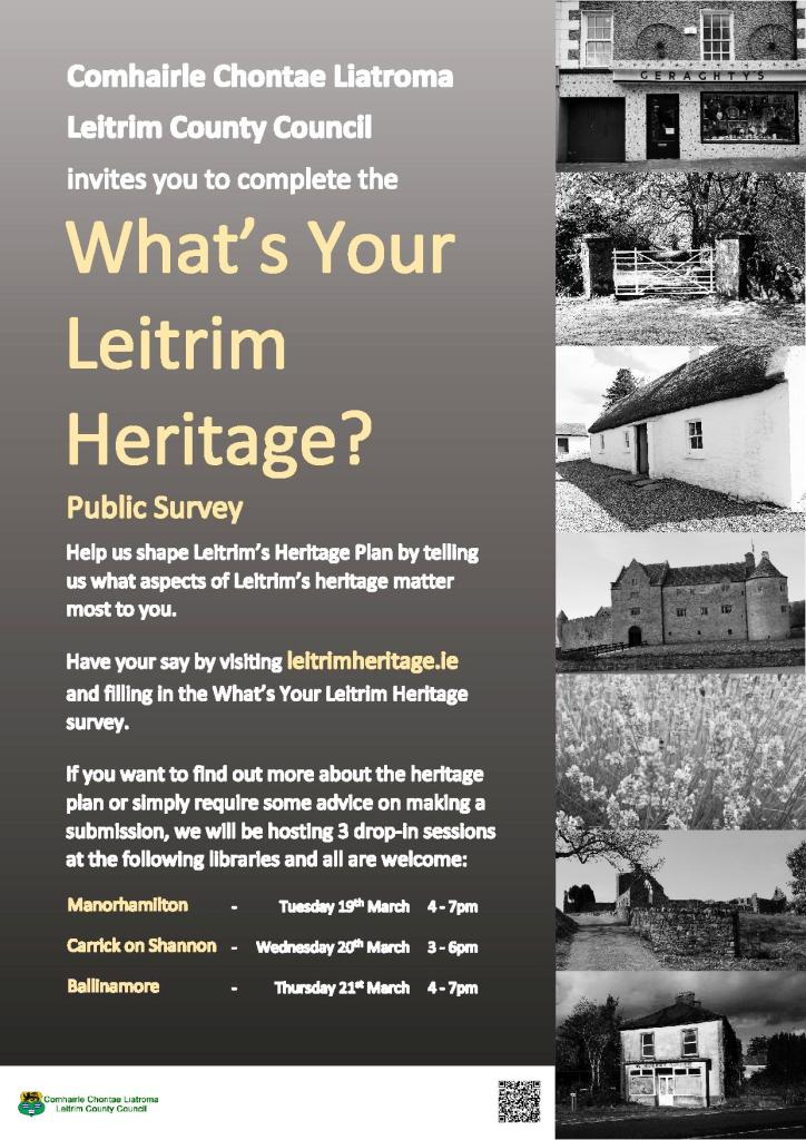 What's Your Leitrim Heritage? Consultation Poster