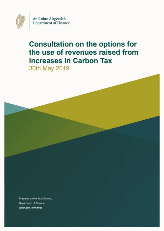 Cover of Carbon Tax Revenues Consultation