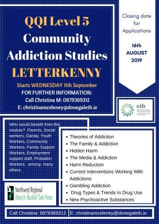 Community Addiction Studies – QQI Level 5 Training