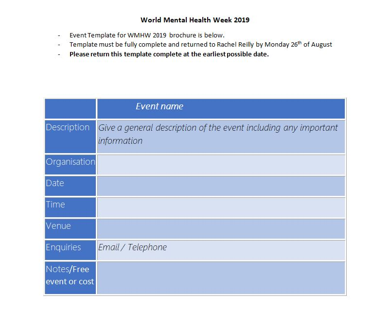 Mental Health Week Leitrim Template