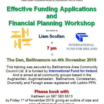 Effective Funding Applications – New Training