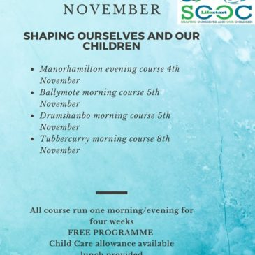 Parenting courses in November