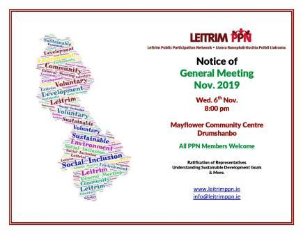 General Meeting of Leitrim PPN – Nov 2019