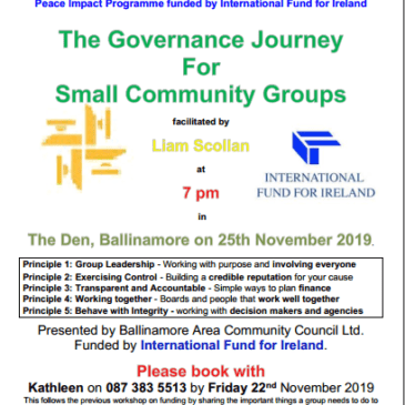 Governance For Small Community Groups Workshop