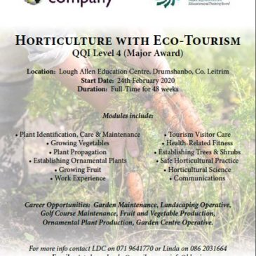 Horticulture With Eco-Tourism Course