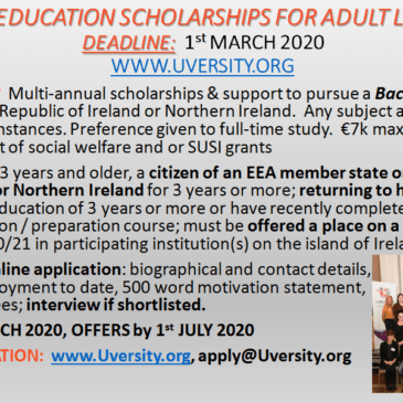 Uversity Adult Learner Scholarships Now Open