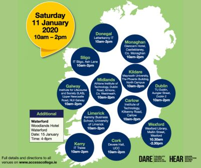 ACCESS TO HIGHER EDUCATION-DARE AND HEAR INFORMATION DAYS