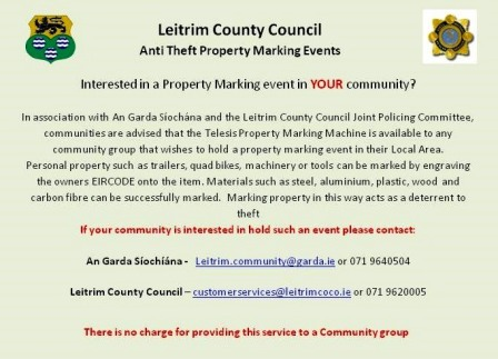 Property Marking Events In The Local Community