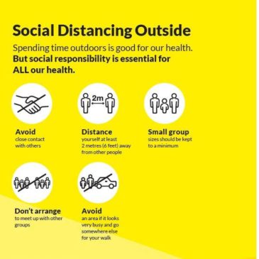 Guidelines For Social Distancing While Outside