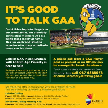 Leitrim GAA launches new initiative in response to Covid-19