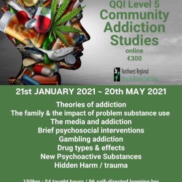 QQI Level 5 Community Addiction Studies